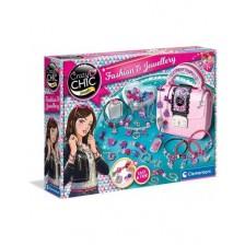 Творчески комплект Clementoni Crazy Chic - Мода и бижута в куфарче -1