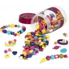 Творчески комплект Battat - Многоцветни мъниста Pop Art, 275 броя -1