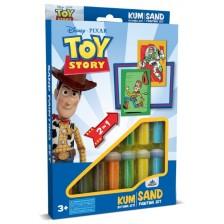 Творчески комплект за оцветяване с пясък Red Castle - Toy Story, с 2 картини -1