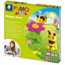 Творчески комплект Staedtler Fimo Kids - Направи си сам фигурки от глина, Happy Bees -1