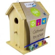 Творчески комплект D'Arpeje - Дървена къщичка за птички -1