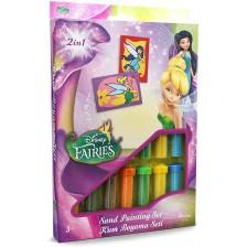 Творчески комплект за оцветяване с пясък Red Castle - Fairies, с 2 картини -1