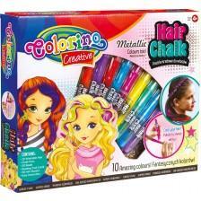 Творчески комплект Colorino Creative - Пастели и мъниста за коса -1