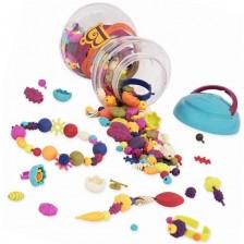 Творчески комплект Battat - Многоцветни мъниста Pop Art, 300 броя -1