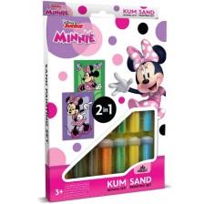 Творчески комплект за оцветяване с пясък Red Castle - Minnie, с 2 картини -1