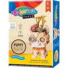 Творчески комплект Colorino Hobby - Направи си сам саксия куче -1