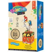 Творчески комплект Colorino Hobby  - Направи си сам музикална кутия с птички -1
