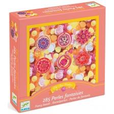Творчески комплект за бижута Djeco Fancy Beads - Цветчета -1