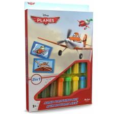Творчески комплект за оцветяване с пясък Red Castle - Planes, с 2 картини -1