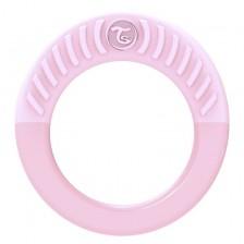 Бебешка чесалка за венци и зъбки Twistshake - Розова, над 1 месец -1