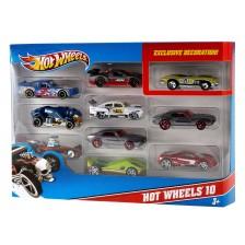 Комплект от 10 колички Mattel Hot Wheels -1