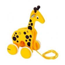Играчка за дърпане Brio - Жираф -1