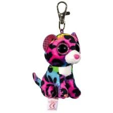 Ключодържател TY Beanie Boos - Шарен леопард Dotty -1