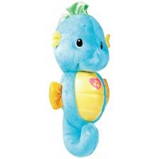 Плюшена играчка Fisher Price - Морско конче, синьо, светещо и музикално -1
