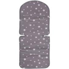 Универсална подложка за количка и стол за кола с 3D мембрана Sevi Baby - Сиви звезди -1
