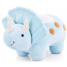 Успокояваща плюшена играчка с проектор Chipolino - Дино, синя -1