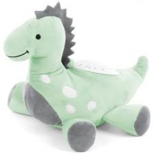 Успокояваща плюшена играчка с проектор Chipolino - Дино, зелена -1