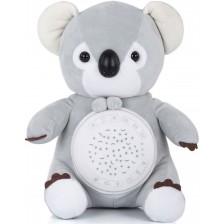 Успокояваща плюшена играчка Chipolino - Коала,с проектор и музика -1