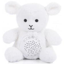 Успокояваща плюшена играчка с проектор Chipolino - Агънце -1