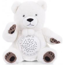 Успокояваща плюшена играчка с проектор Chipolino - Мече -1