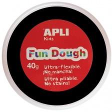 Вълшебно тесто за моделиране Apli - Черно, 40g -1