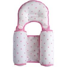 Възглавничка за спане настрани с оформяща възглавничка Sevi Baby - Розова -1