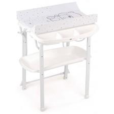 Вана за къпане със стойка Cam - Aqua, бяла -1
