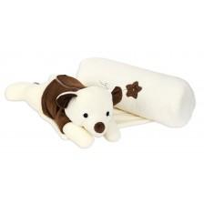 Възглавничка за спане настрани с играчка Sevi Baby - Мече -1