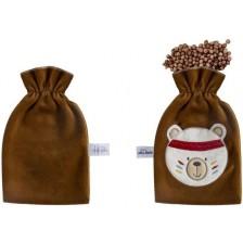 Възглавница за облекчаване на колики с черешови костилки Sevi Baby - Кафява -1