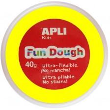 Вълшебно тесто за моделиране Apli - Жълто, 40g -1
