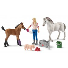 Комплект фигурки Schleich Farm World - Ветеринар на визитация -1