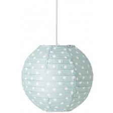 Висяща лампа Bloomingville - Зелена, на бели точки -1