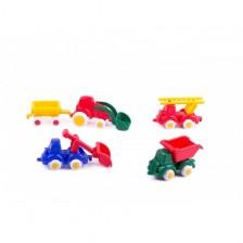 Мини Бръмбита Viking Toys - Строители 7 cm, 5 броя, с подаръчна кутия -1