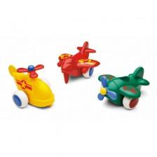 Бръмбита Viking Toys - Самолети, 10 cm, 18 броя -1