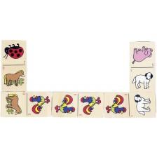 Домино Goki - Животни, в дървена кутия -1