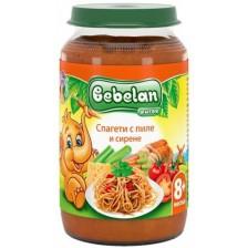 Ястие Bebelan - Спагети с пиле и сирена, 220 g
