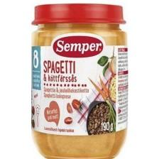 Ястие Semper - Спагети по болонски с месо, 190 g