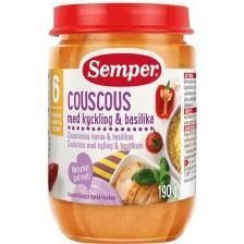 Ястие Semper -  Пиле с кус-кус и босилек, 190 g -1