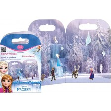 Активна игра със стикери Revontuli Toys Oy - Замръзналото кралство, Снежни гори -1