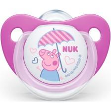 Залъгалка Nuk - Peppa, 6-18 месеца, розова -1
