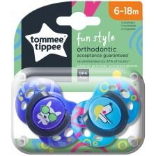 Залъгалки Tоmmee Tippee - Fun Style, 6-18 месеца, кучета, 2 броя -1