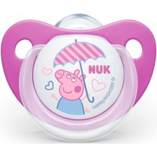Залъгалка Nuk - Peppa, 18-36 месеца, розова -1
