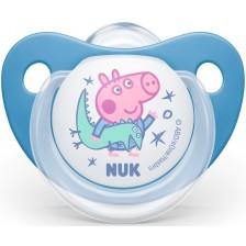 Залъгалка Nuk - Peppa, 6-18 месеца, синя -1