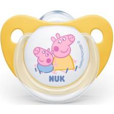 Залъгалка Nuk - Peppa, 6-18 месеца, жълта -1
