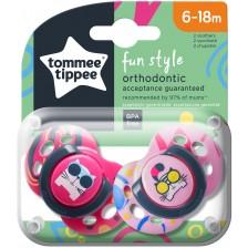 Залъгалки Tоmmee Tippee - Fun Style, 6-18 месеца, котки, 2 броя -1