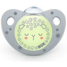 Залъгалка Nuk Night & Day - Овчица, 6-18 месеца, с кутийка -1