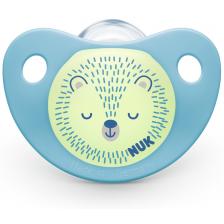Залъгалка Nuk Night & Day - Таралеж, 6-18 месеца, с кутийка -1