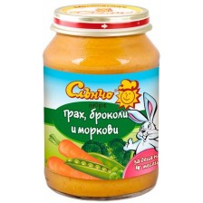Зеленчуково пюре Слънчо - Грах, броколи и моркови, 190 g -1