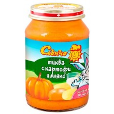 Зеленчуково пюре Слънчо - Тиква с картофи и мляко, 190 g -1
