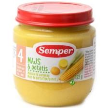 Зеленчуково пюре Semper - Царевица с картофи, 125 g -1